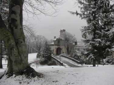 Vanderbilt Mansion In Winter