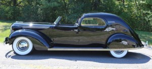 """Photo by Howard Kroplick """"Chrysler's Chrysler,"""" a one-of-a-kind, 1937 Imperial LeBaron Town Car, owned and restored by Howard Kroplick"""