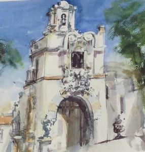Vanderbilt Museum photo Antonio Masi watercolor of Vanderbilt Mansion bell tower