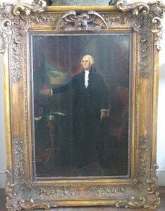 Portrait of George Washington, believed to have been painted by Gilbert Stuart (1755-1828)