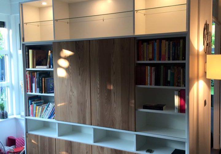 Wandkast woonkamer  PJ van der Vegt