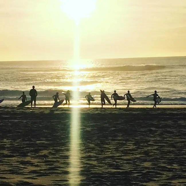 Atlantik surfen surfkurs Ozean Sonnenuntergang