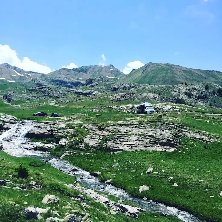 Col de la Bonette Alpenpässe Wohnmobil Campingbus Frankreich Rundreise Wildcamping