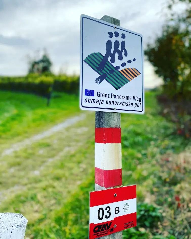 Südsteiermark Steiermark Grenzpanoramaweg Südalpenweg 03 Wandern weiterwandern Österreich Hund Slowenien Weinstraße
