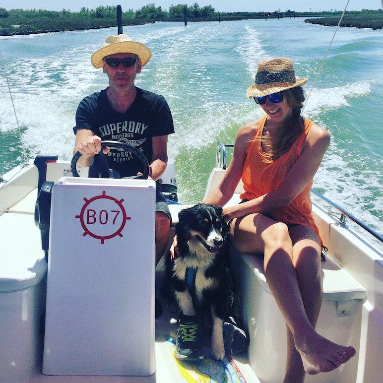 Laguna Nord Motorboot Lagune von Venedig Hund Boot Cavallino