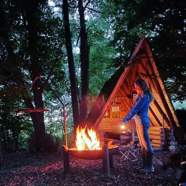 Lagerfeuer Camping Idylle Wildcamping Vansite Allgäu