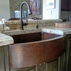 Copper Sink Kitchen Sideboards Sinks Fireclay Van Dykes Restorers Premier 33 Inch Rounded Apron Single Basin