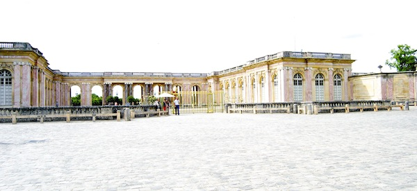 Grand Trianon's approach is impressive and very pink.