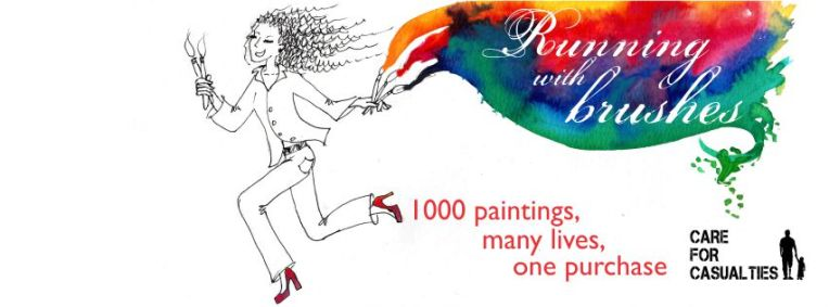 Running with Brushes banner by LoriBentleyArt.com
