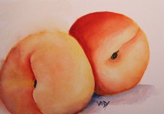 Just Peachy (watercolour 6 x 4 inches)