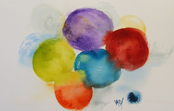 Watercolour painting: Circle of Friends - Suzie