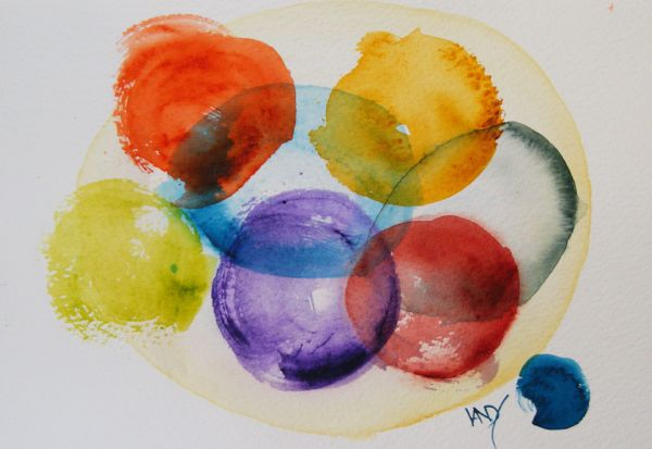 Watercolour paintings.  Circle of Old Friends - Jen
