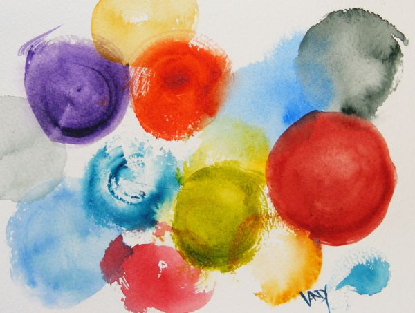 Watercolour painting. Circle of Friends - Charkie