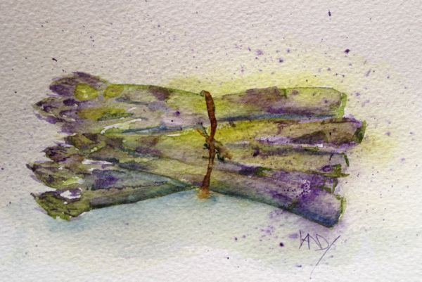 Purple Asparagus painting for Running With Brushes