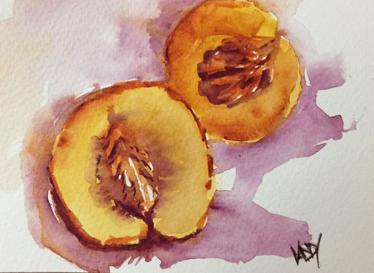 Quinacridone Watercolours - Gold, Deep Gold and Violet