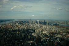 Uitzicht op Manhattan vanuit de 107 ste verdieping van het World Trade Center
