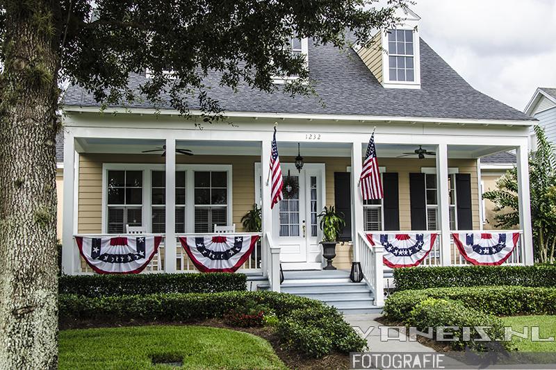 Een typisch huis in Celebration, Florida.