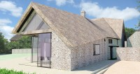 A contemporay thatched roof extension to a listed ...