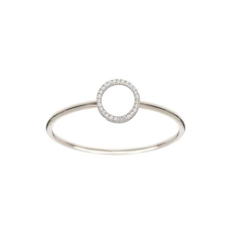 ring cercle white gold