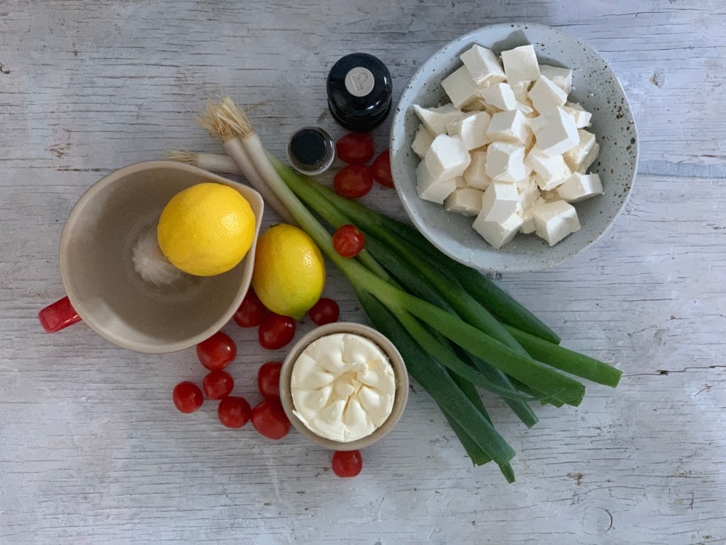 Whipped Feta dip ingredients