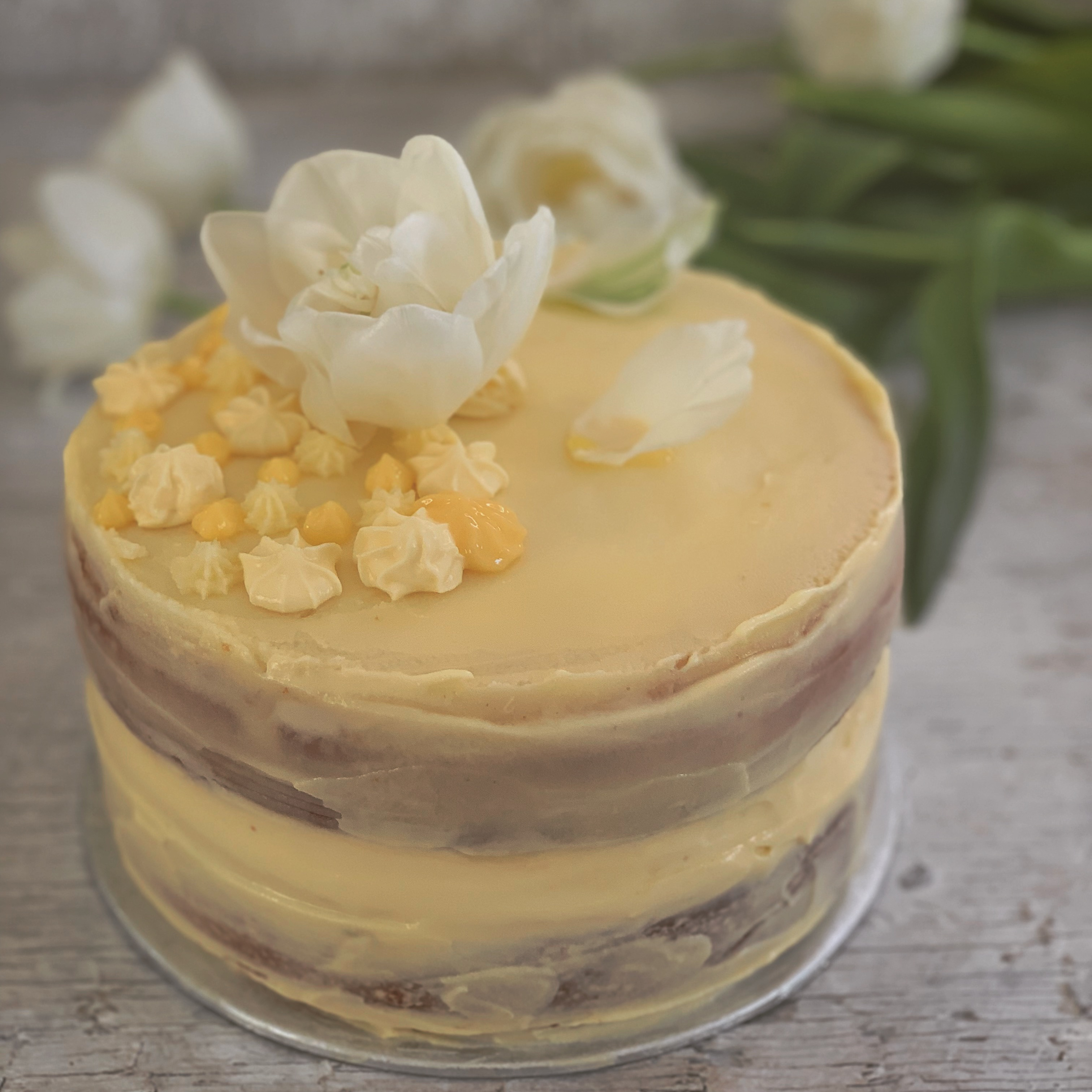 Lemon Curd Layer cake for an engagement party