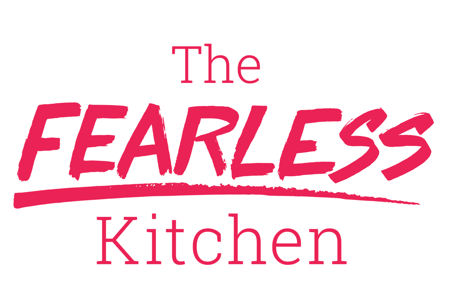The Fearless Kitchen Pink logo