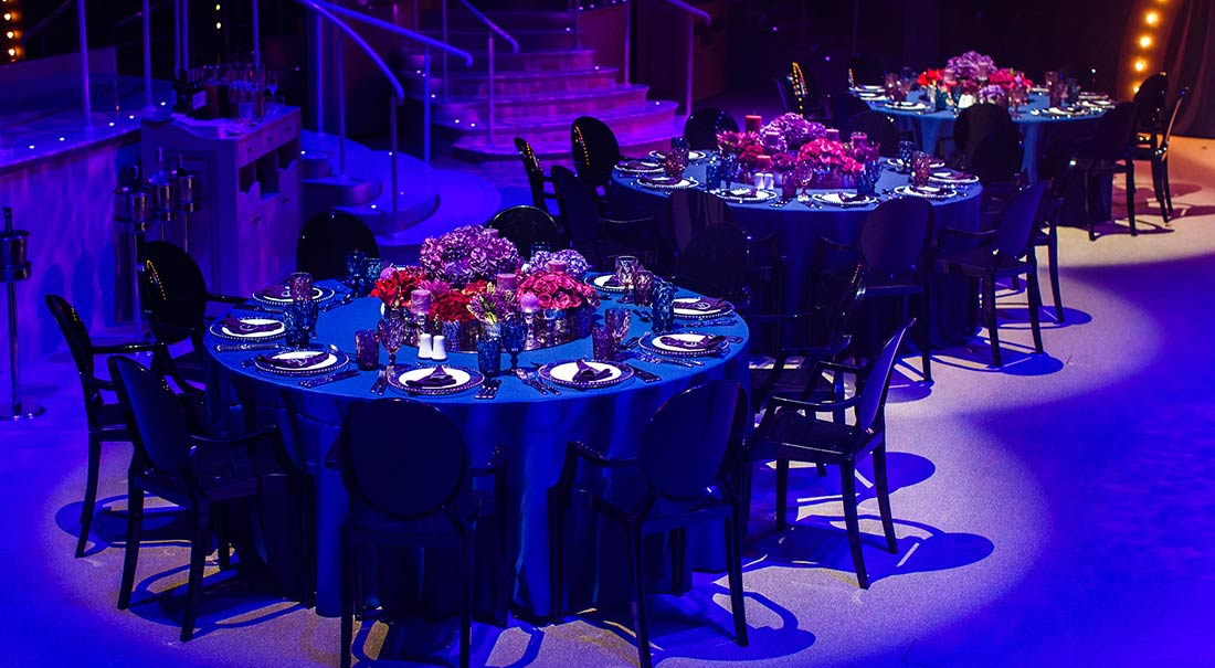 Gala blue party by Vanessa Cerrone event planner