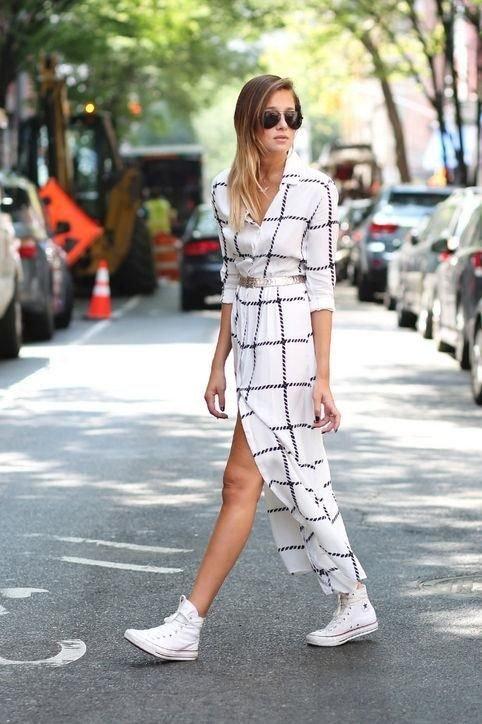 Minimal Chic: Maxi Dresses \u0026 Sneakers