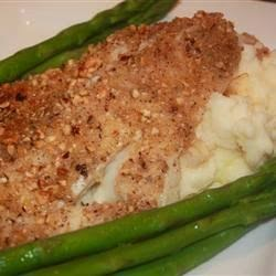 Seafood – Hazelnut Crusted Halibut With Garlic Mashed Potatoes