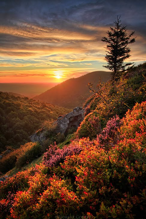 Mountain Sunset, Chaine des Puys, France