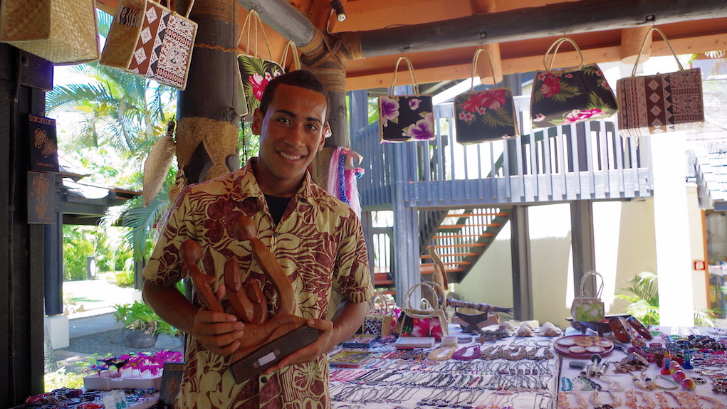 Market stall owner at Westin Resort, Port Denarau, Fiji