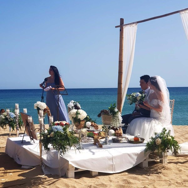 Persian ceremony in front of the sea