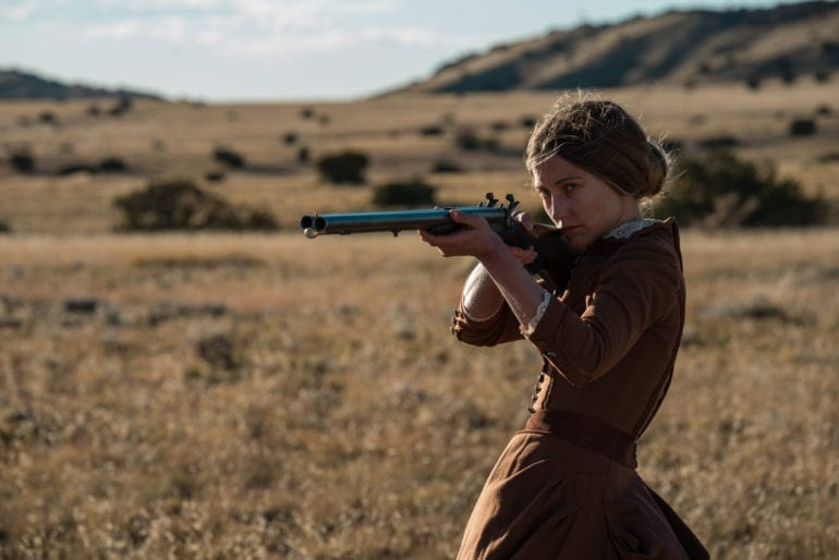 """Caitlin Gerard as """"Lizzy Macklin"""" in Emma Tammi's The Wind. Courtesy of IFC Films. An IFC Films Release."""