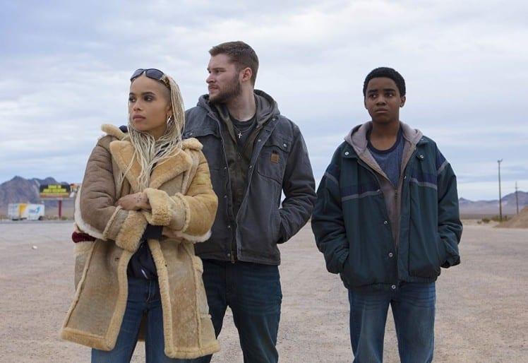 Zoë Kravitz, Jack Reynor, and Myles Truitt in Kin (2018)
