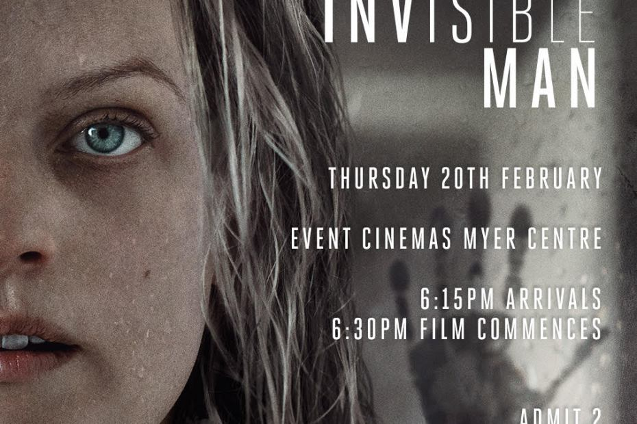 The Invisible Man pre-screener event. This time he's a narcissistic villain