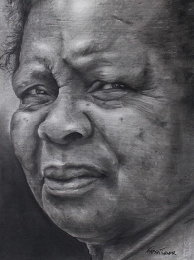 Charcoal Portrait Indomitable Will