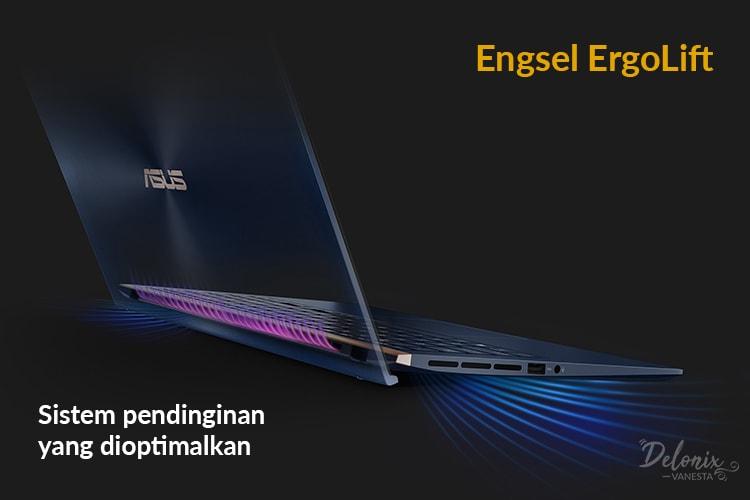 Asus ZenBook UX533 - Sistem pendinginan yang dioptimalkan