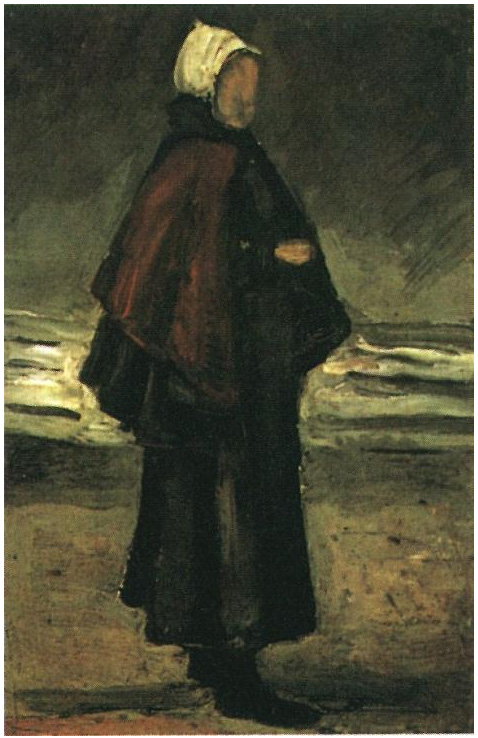 Fishermans Wife On The Beach By Vincent Van Gogh 140