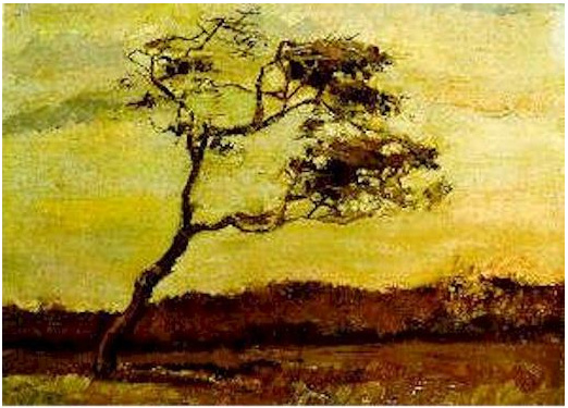 Vincent van Gogh's Wind-Beaten Tree, A Painting