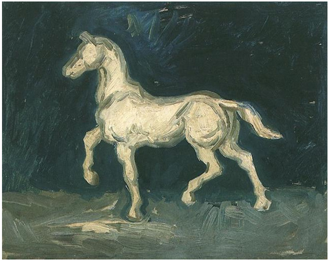 Plaster Statuette Of A Horse By Vincent Van Gogh 442