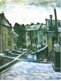 Backyards of old Houses in Antwerp in the Snow by Van Gogh ...