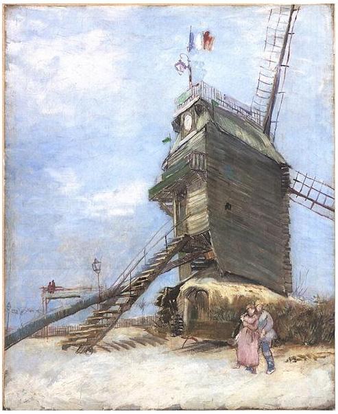 Wallpapers With Work Quotes Le Moulin De La Galette By Vincent Van Gogh 292 Painting
