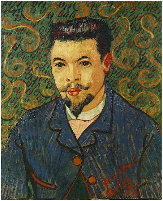 Vincent van Gogh's Portrait of Doctor Felix Rey Painting