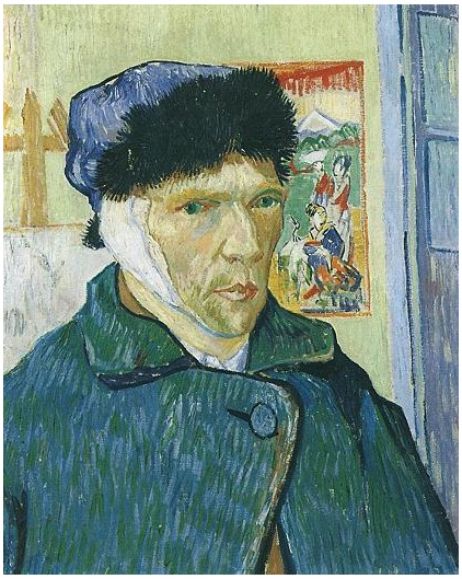Vincent van Gogh's Self-Portrait with Bandaged Ear Painting
