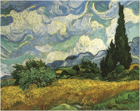 Wheatfield with Cypresses - van Gogh