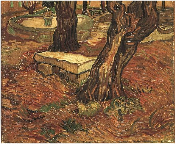 Stone Bench In The Garden Of Saint Paul Hospital The By