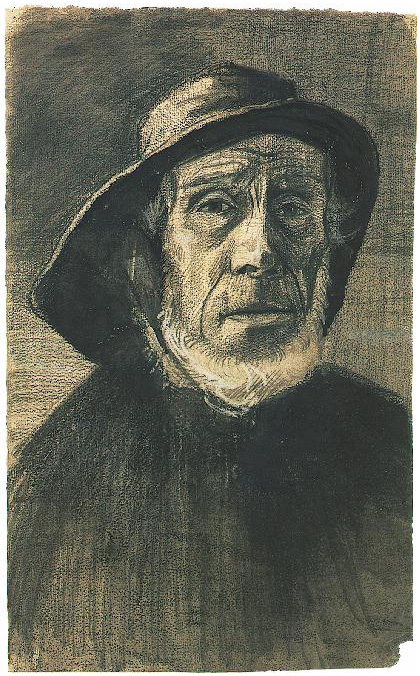 Head Of A Fisherman With A Fringe Of Beard And A Souwester