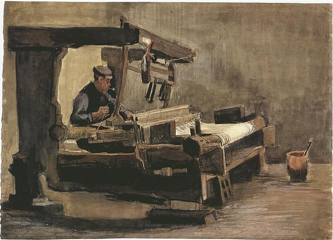 Vincent van Gogh's Tejedor Watercolor