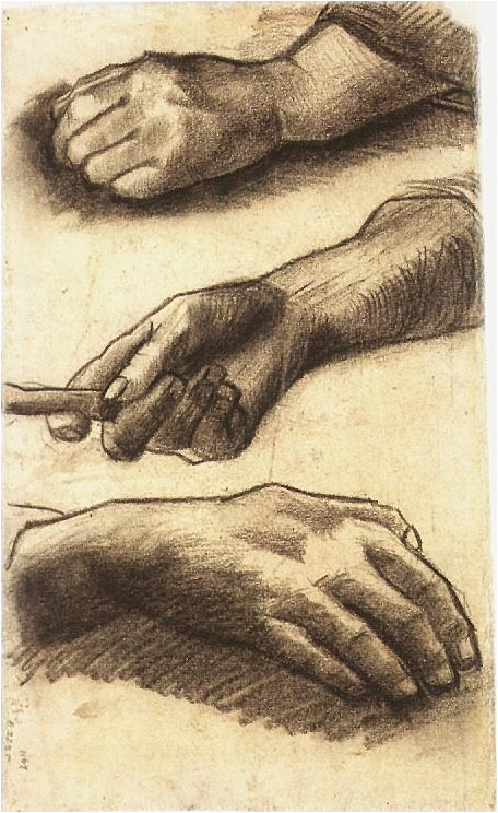 Wallpapers With Work Quotes Three Hands By Vincent Van Gogh 1615 Drawing