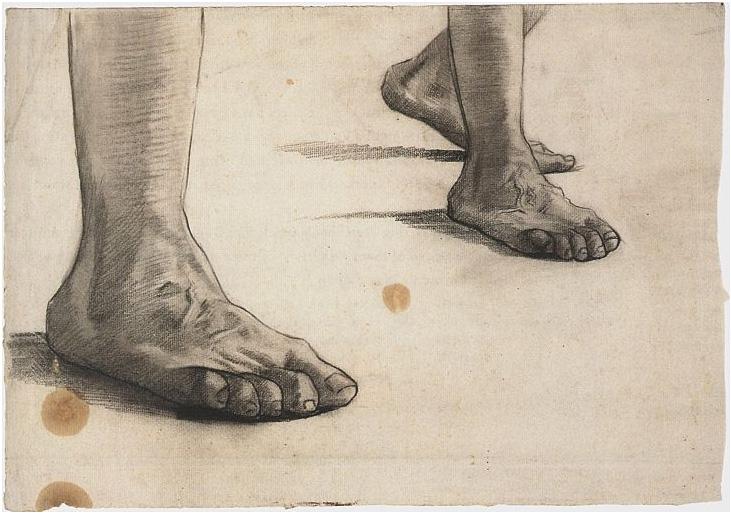 Feet By Vincent Van Gogh 915 Drawing Pencil Black Chalk